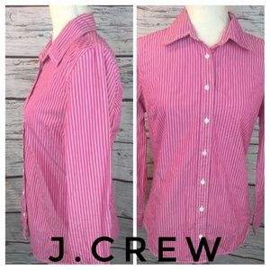 J.Crew Pink Striped button down blouse